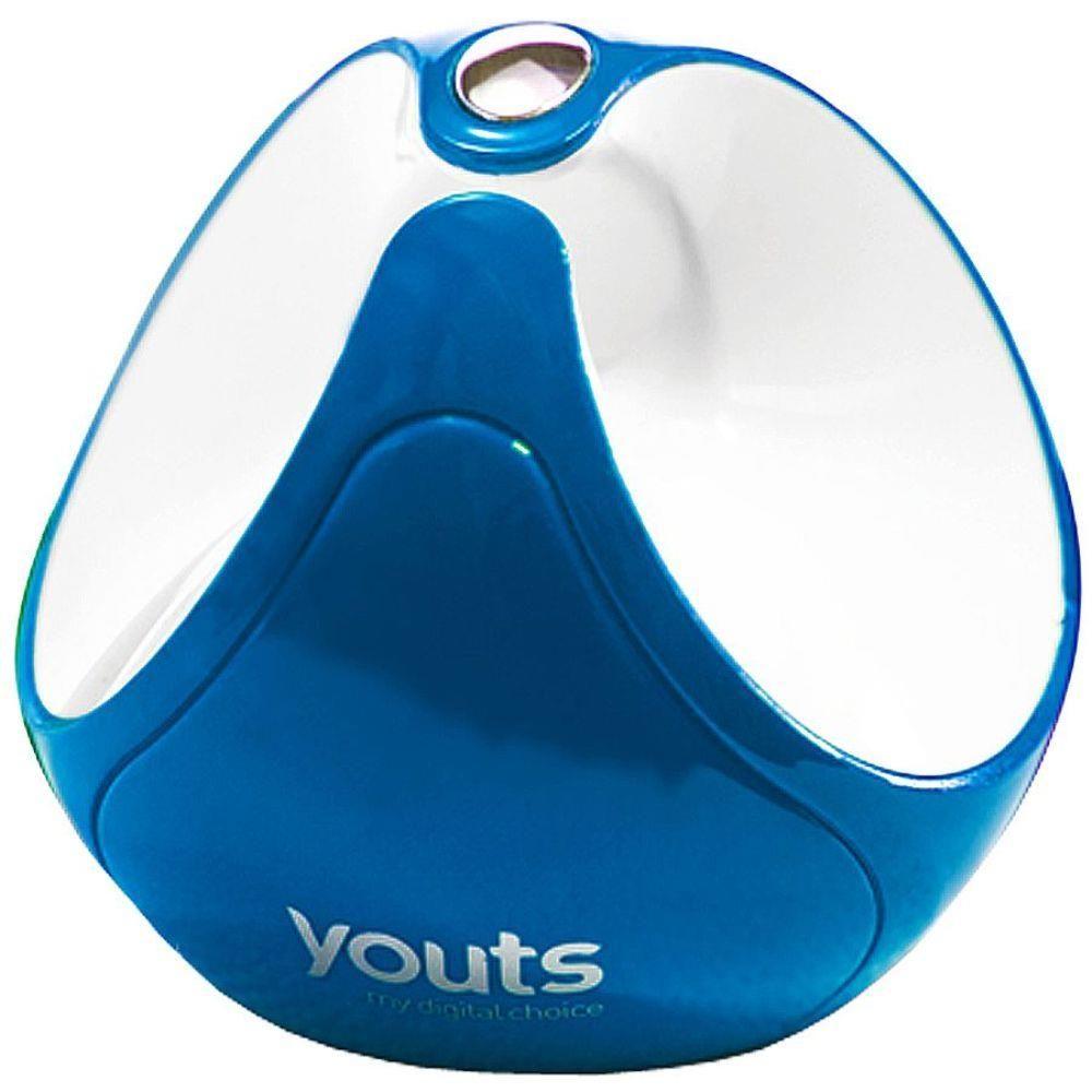 Caixa de Som Dispositivo por Vibração Youts Globe Super Speaker Azul