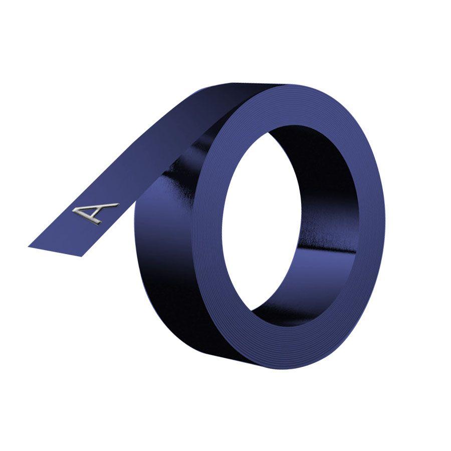 Caixa 10 Unids. Fita Vinilica para Rotulador Manual Dymo 9mm x 3mm Azul 520106