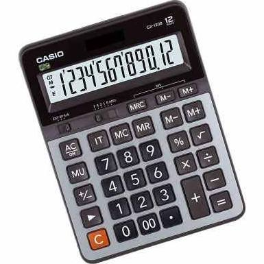 Calculadora Casio de Mesa 12 Díg Big Display Prata Gx-120B-W-Dc