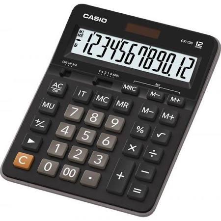 Calculadora Casio de Mesa 12 Díg Solar Arrendodamento Gx-12B-Bk-W-Dc