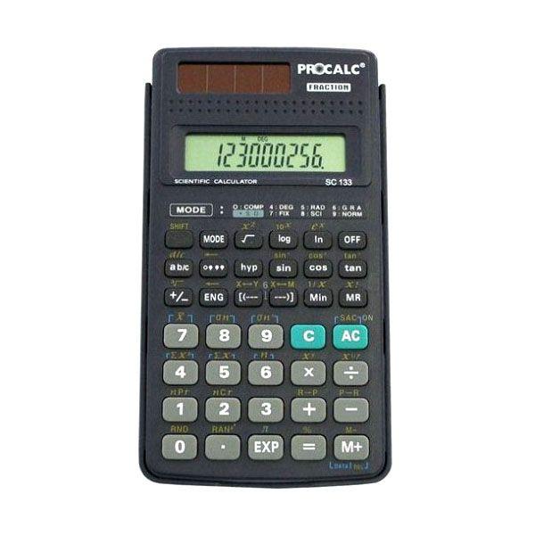 Calculadora Científica Procalc Sc133 2 Díg Capa Deslizante Solar/Bateria 2xG10