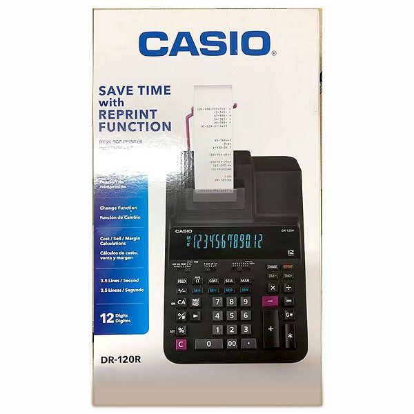 Calculadora com Bobina Casio DR-120R-BK bicolor 12 Dígitos 3,5 lps Bivolt