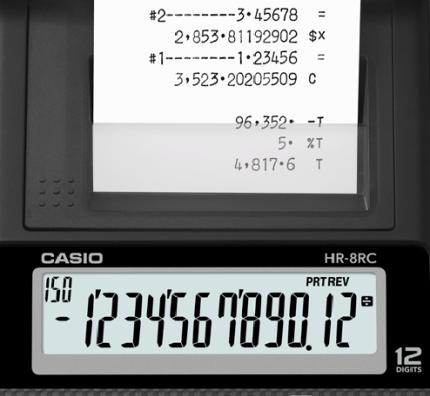 e0c18ce29b1 ... Calculadora com Bobina Casio Hr-8Rc-Bk Preta 12 Díg Adaptador Bivolt  Incluso -