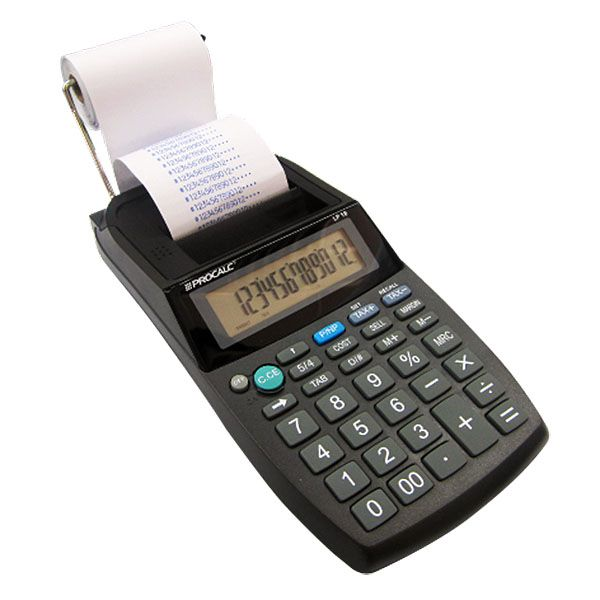 Calculadora com bobina Procalc LP18 12 dígitos