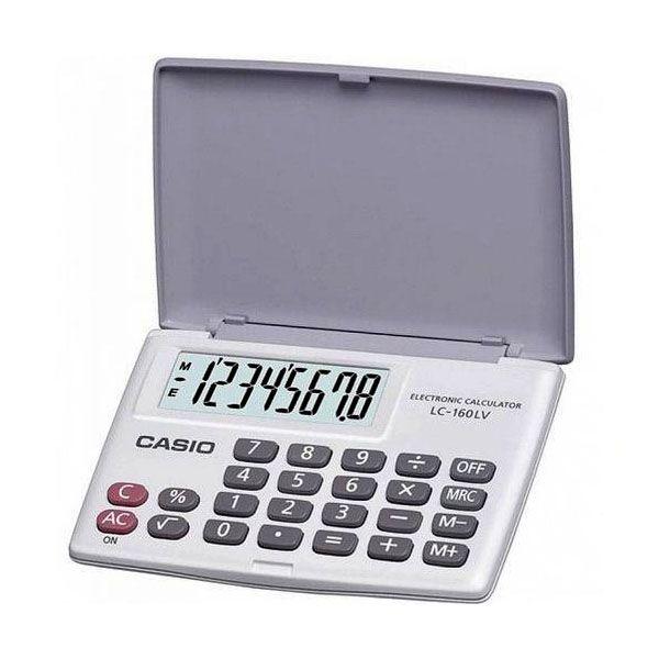 Calculadora de Bolso Casio Lc-160Lv-We 4 Operações Big Display Branca