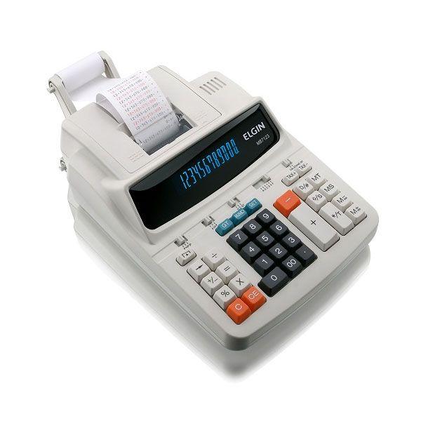 Calculadora Elgin MB 7123 Semi-Nova Visor 3,5 Lps 12 Díg Fita Bicolor Bivolt