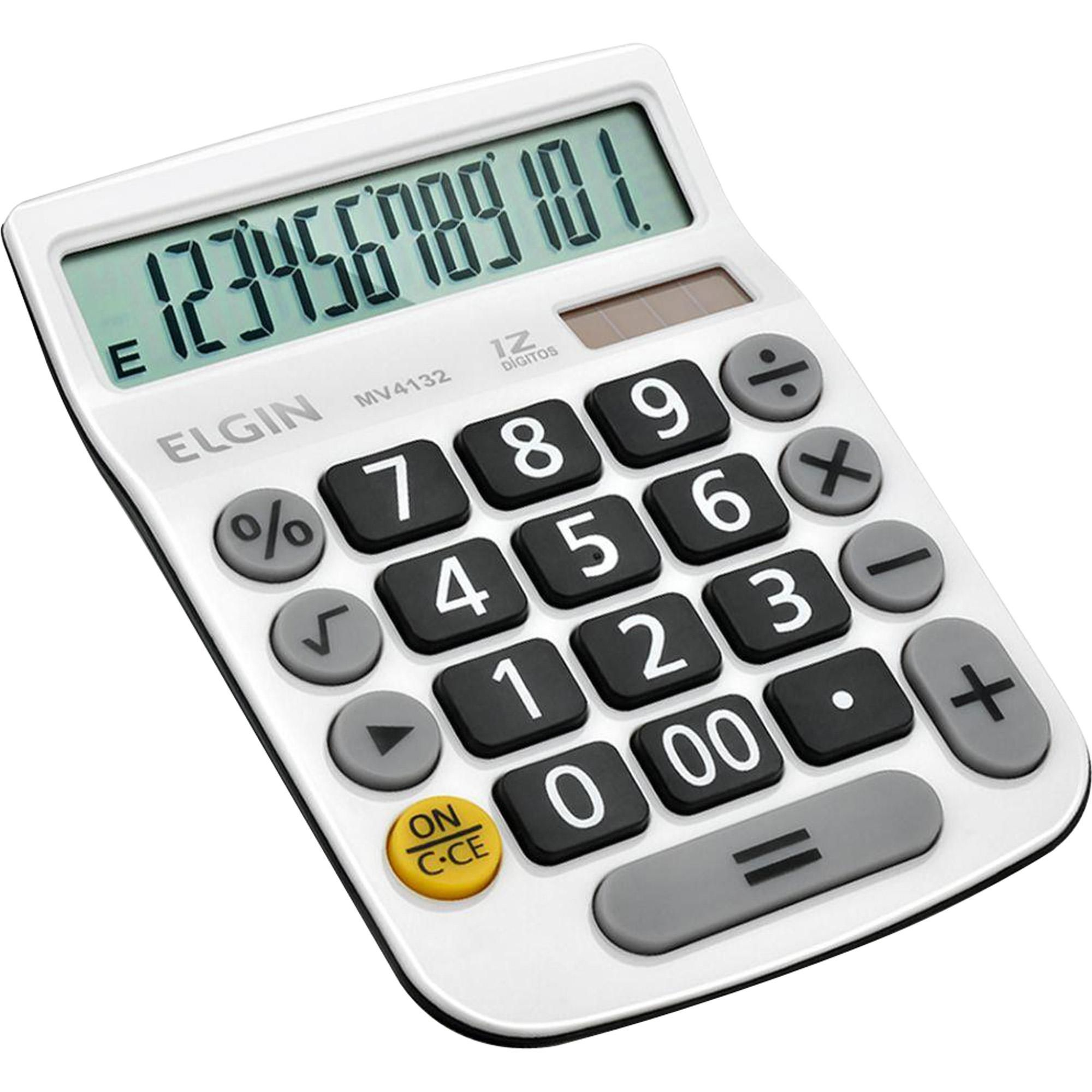 Calculadora Elgin Mv4132 12 dígitos solar e bateria