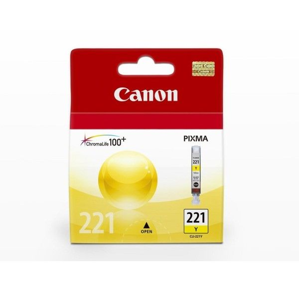 Cartucho de tinta Canon Elgin CLI-221 Y Amarelo
