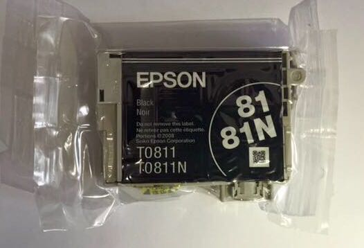 Cartucho de Tinta Preta Hi-Definition Epson Original Blister T0811N