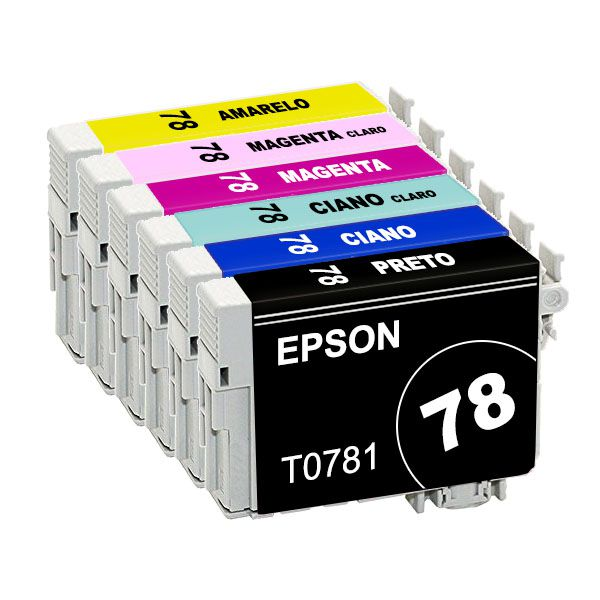 Cartuchos Epson Original Blister T0781 T0782 T0783 T0784 T0785 T0786 Kit
