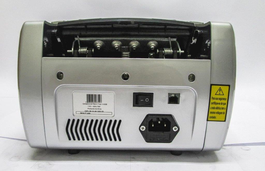 Contadora Dinheiro e Cédula T-Klar H-6100 110v 1100 Notas/Minuto Detector Uv Mg Ir