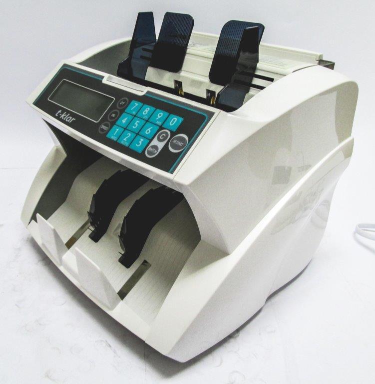 Contadora de Dinheiro e Cédula T-klar H-A12 Bivolt Conta até 1900  notas por minuto, detector UV MG IV
