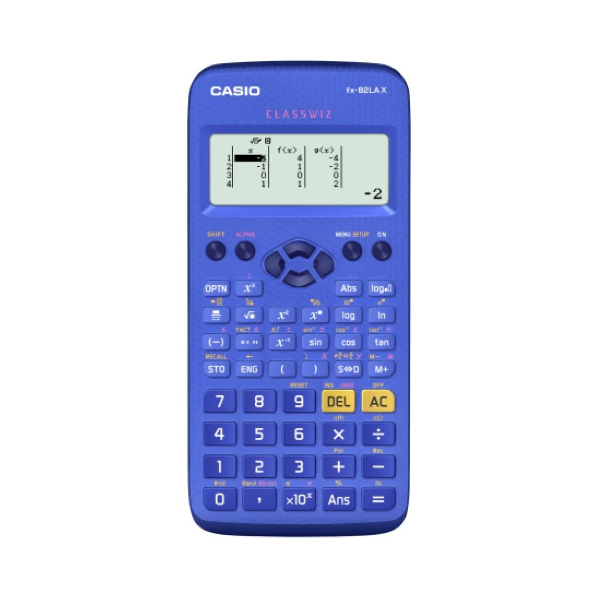 Calculadora Casio Fx-82Lax-Bu Azul Programável Cientifica Original 274 Funções