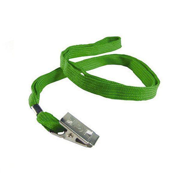Cordão para Crachá com Clips com 10 Unid Mares Verde Bandeira