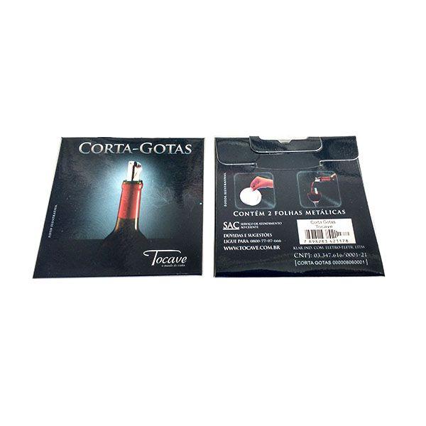 Corta Gotas Tocave pacote com duas películas metalizadas Cx 100 Folhas