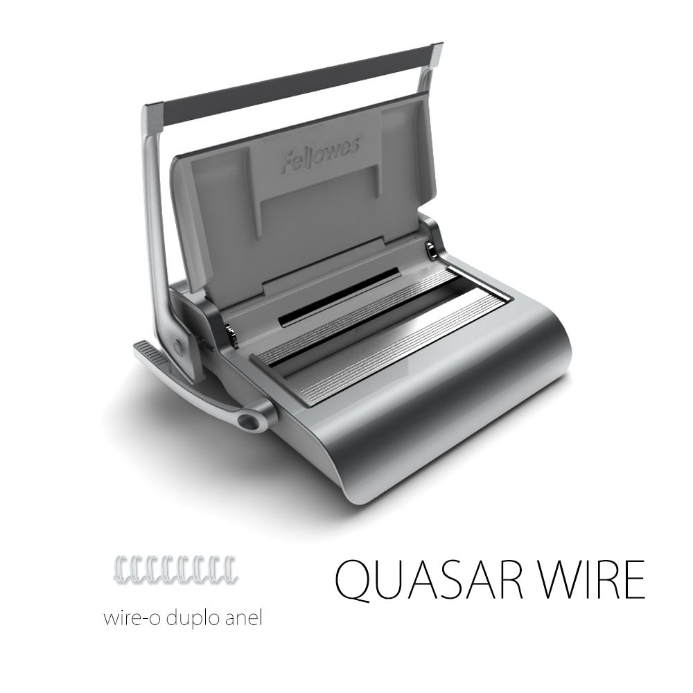 Encadernadora Fellowes Quasar 500 Wire-o + Kit para 20 Documentos