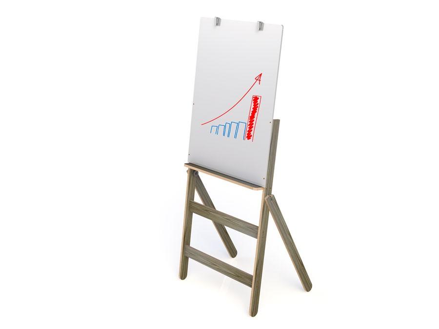 Flip Chart Stalo Fit Mdf com Quadro Branco 90x54cm 9425