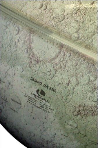 Globo Lunar Libreria 21cm Lua Cinza-I-Lb/Bs-Pp 310382 Crateras Montes Bivolt Base Preta