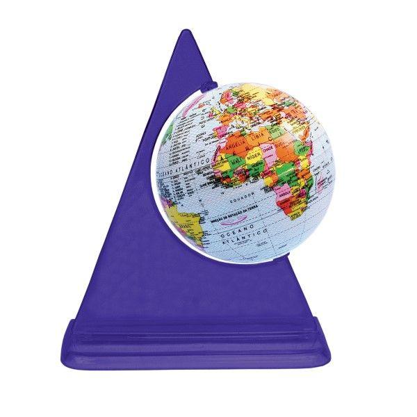 Globo Terrestre Libreria 10cm Junior Roxo 313277 Politico Base e Régua Plástico