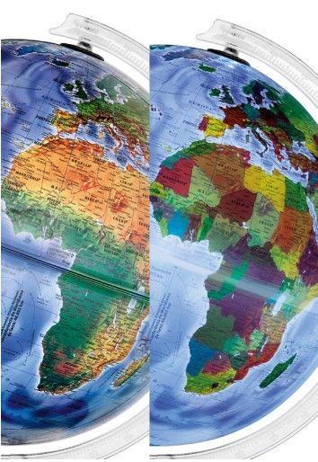 Globo Terrestre Libreria 30cm Mondo Fpi-Lb/Br-Vdt 313635 Físico/Polit.Bivolt Verde Turq