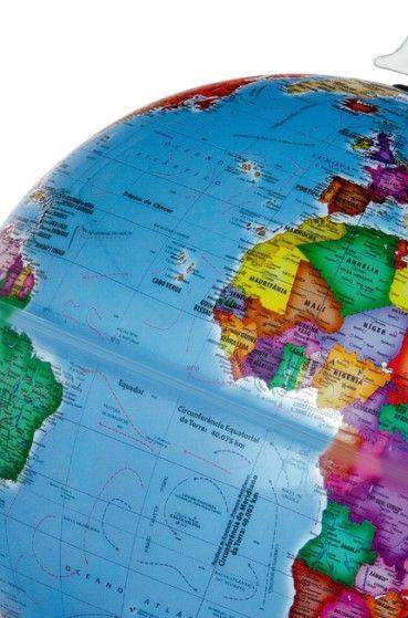 Globo Terrestre Libreria 30cm Prisma Br-Azc 313444 Politico Base Pls Azul Celeste
