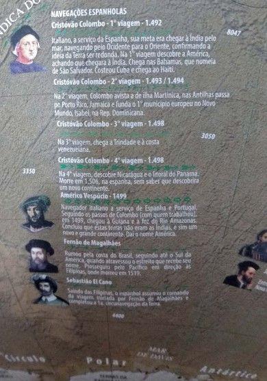 Globo Terrestre Libreria 30cm Satélite-Fh/Br-Ouv 313765 Físico/Hist. Base Pls Ouro Velho