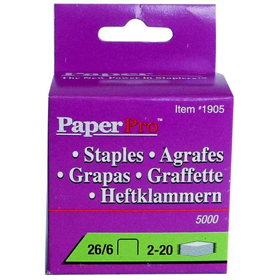 Grampos Paperpro 1905 26/6 Grampeia até 20 Folhas Cx com 5000