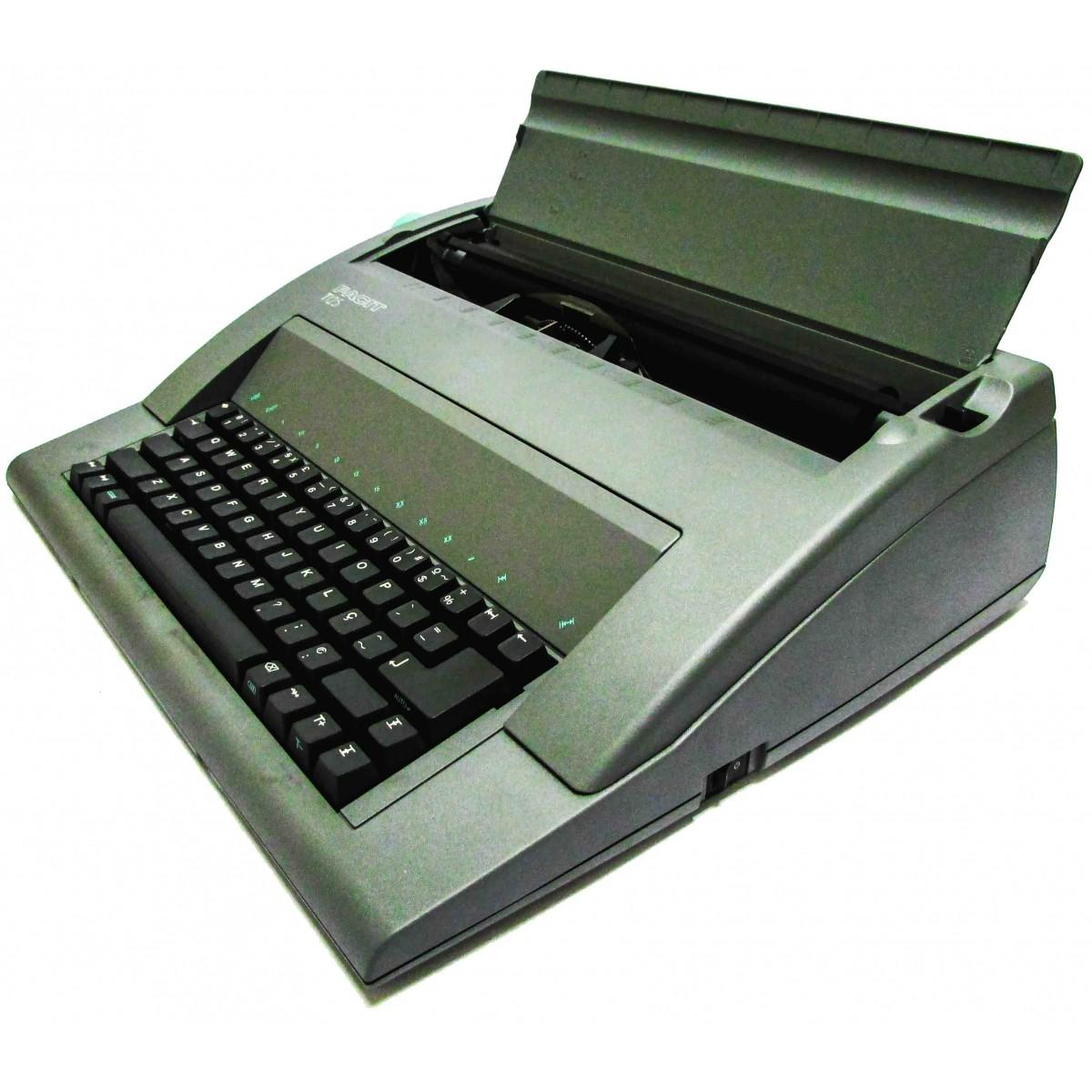 Máquina de Escrever Eletrônica Facit T125 110v Portátil