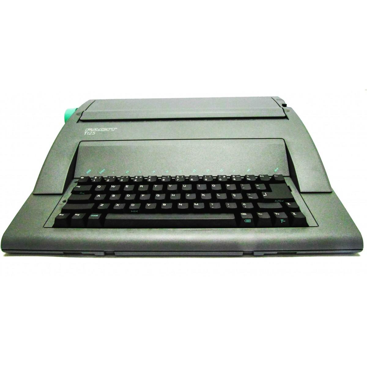 Máquina de Escrever Eletrônica Facit T125 220v Portátil