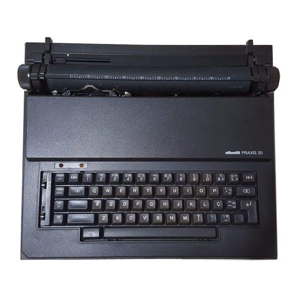 Máquina de Escrever Eletrônica Portátil Olivetti Praxis 20 com Corretivo (Semi Nova)