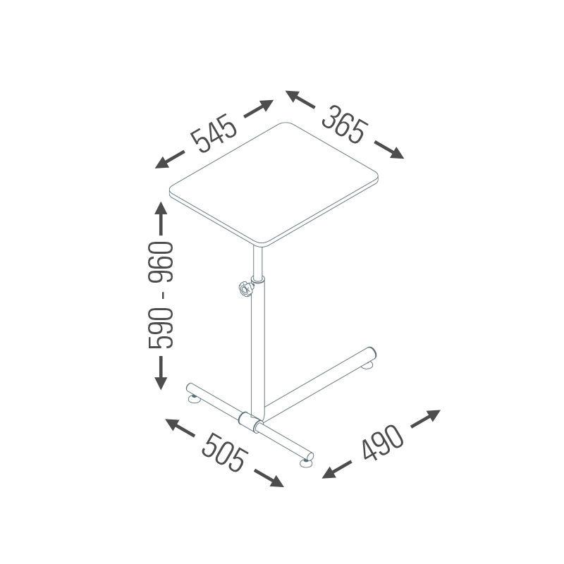 Mesa Ergonômica para Notebook Multivisão Nt-Home