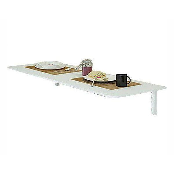 Mesa Multivisão MDS-9040 Dobrável para Cozinha e Suporte 90x40cm Branca