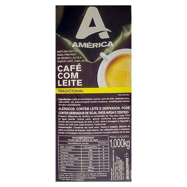 Mistura em Pó América Café com Leite 1Kg