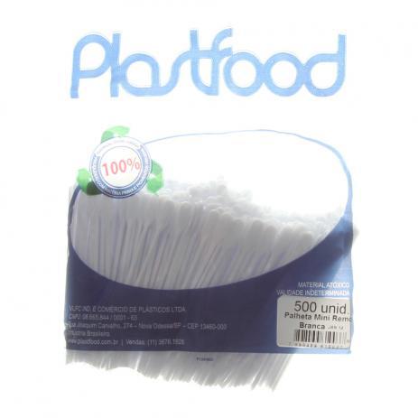 Palheta Remo Cristal de 9 cm Plastfood embalagem com 500 mexedores para café