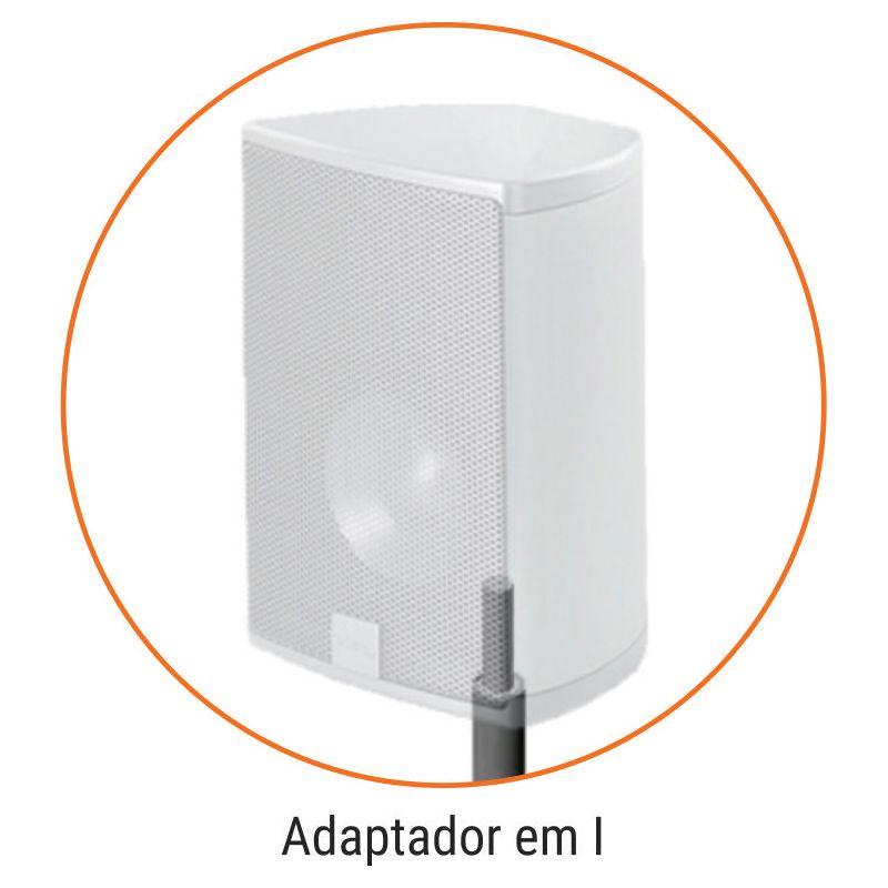 Par de Pedestais para Caixas Acústicas Multivisão Gama Prata