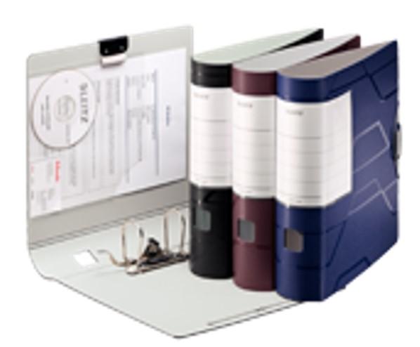 Pasta Arquivo AZ Capacidade 500 folhas Esselte Leitz Prestige Preto LL 63466