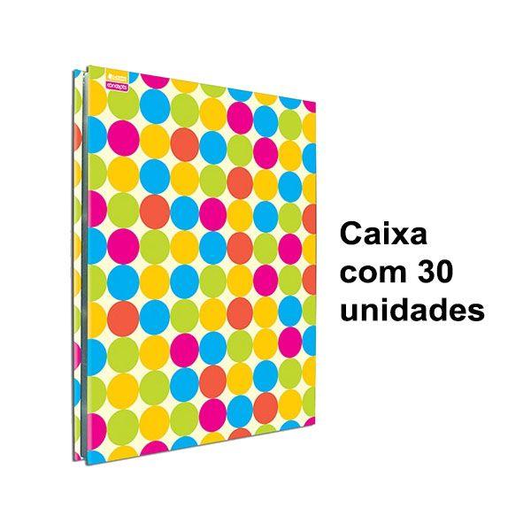 Pasta Catalogo Chies Bolinha Colorida 4090-4 com Colchete e 25 Sacos - Caixa 30 unids.