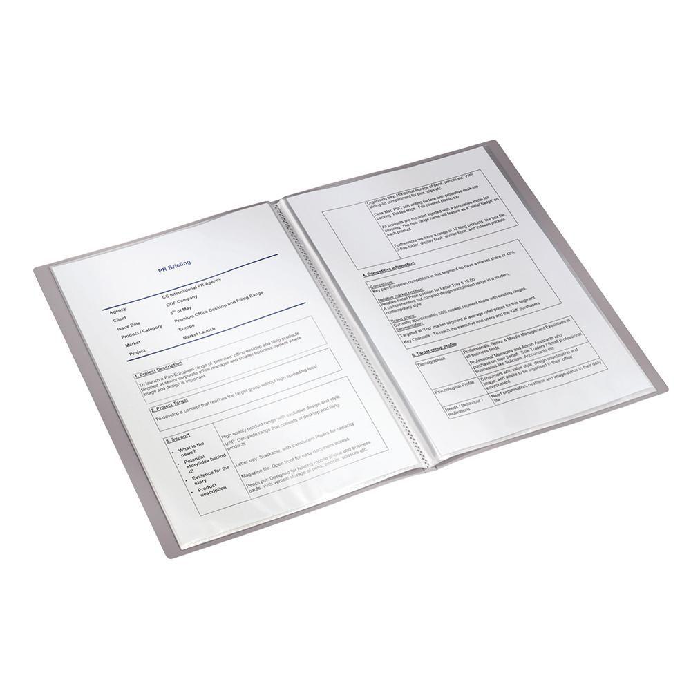 Pasta Catálogo Esselte Leitz Prestige Preto com 20 Plásticos 63510