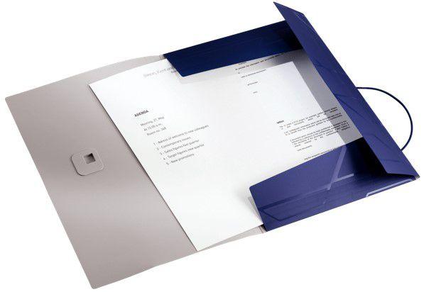 Pasta com elástico Esselte Leitz Prestige Estreira Azul capacidade 150 folhas A4 63491