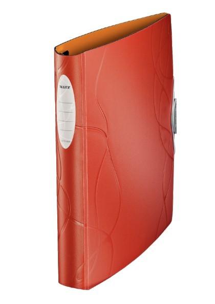 Pasta Fichário Leitz Flash Nature A4 280 fls Softclick Vermelho-Ocre Perolizado 63935