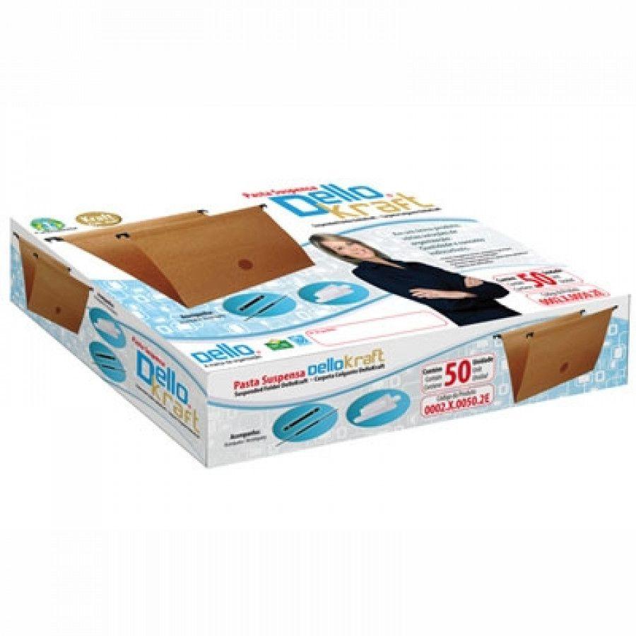 Pasta Suspensa Dello Kraft 002 Haste Plástica caixa com 50 Unidades