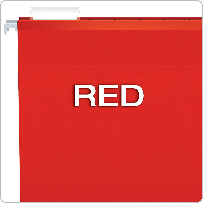 Pasta Suspensa Pendaflex Reforçada Vermelho H.Metal 25 Unid 4153-Red