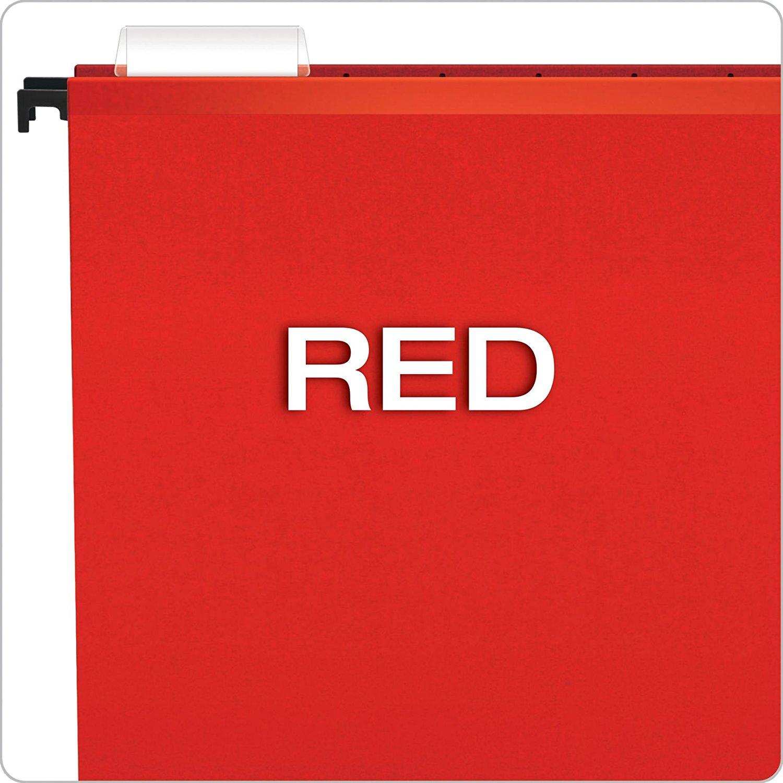 Pasta Suspensa Pendaflex Surehook Vermelho H.Metal 20 Unid 6153-Red com Extensor