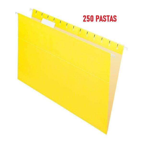 Pasta Suspensa Pendaflex Essentials Amarela Brilho H.Metal 250 Unidades 81626