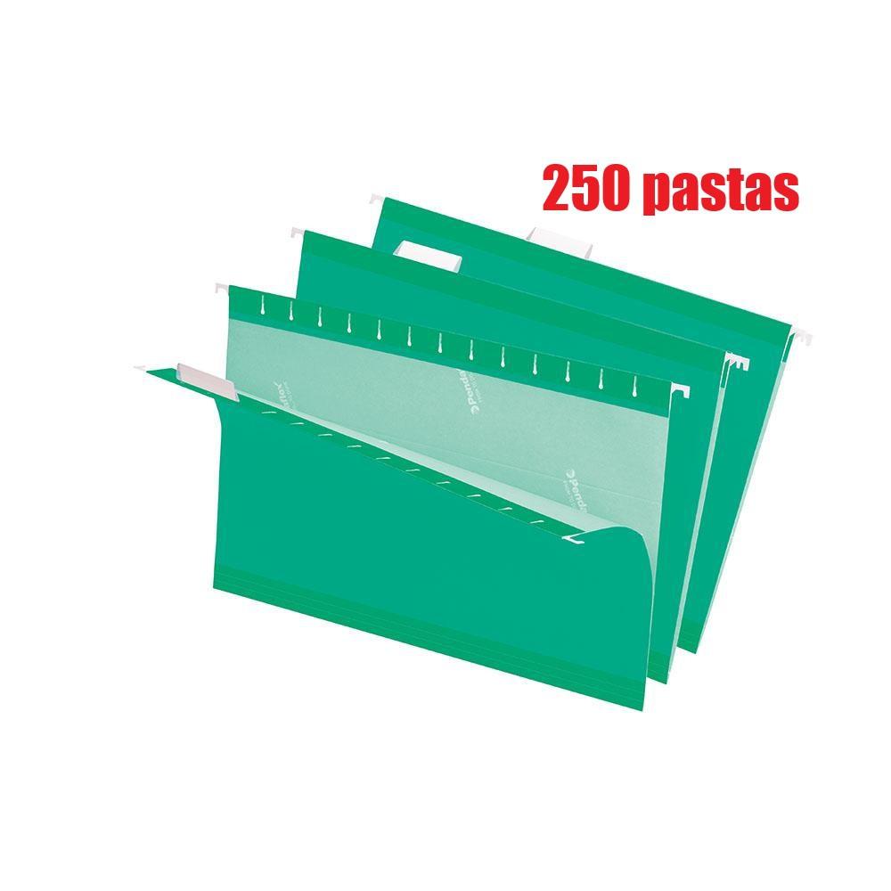 Pasta Suspensa Pendaflex Essentials Verde Brilho H.Metal 250 Unid. Cx Master