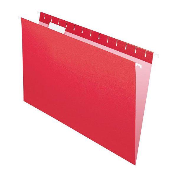 Pasta Suspensa Pendaflex Essentials Vermelho H.Metal 25 Unid 81628