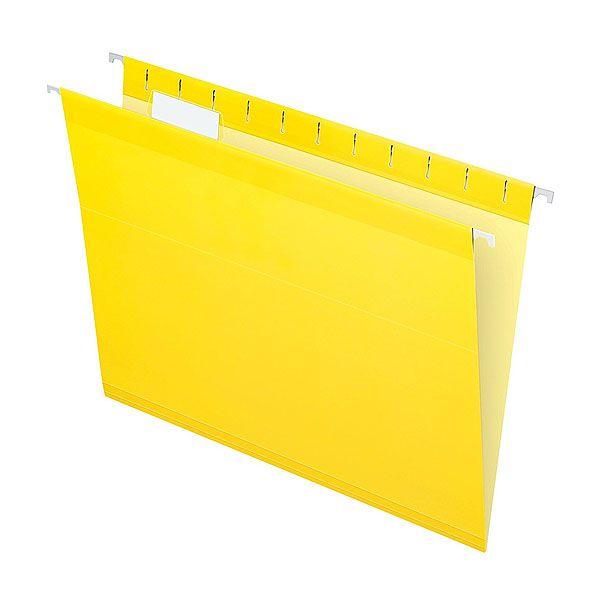 Pasta Suspensa Pendaflex Reforçada Amarela H.Metal 25 Unid 4153-Yel