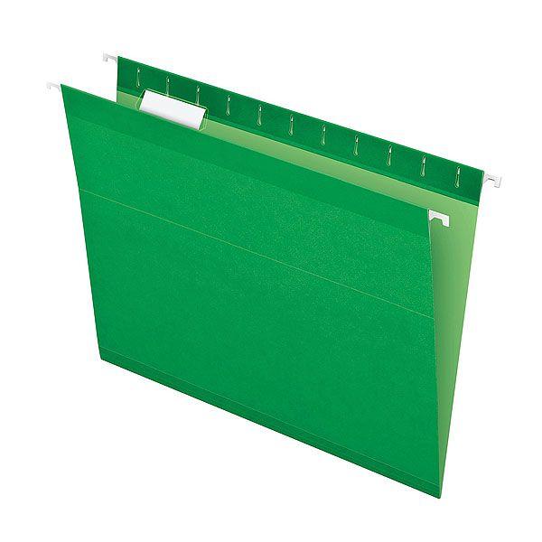 Pasta Suspensa Pendaflex Reforçada Verde H.Metal 25 Unid 4153-Bgr