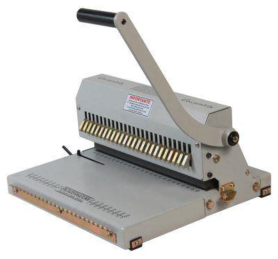 Encadernadora Perfuradora Duplo Anel Wire-O Excentrix 2x1 Sem Fechador 15 Furos 25 folhas 330mm