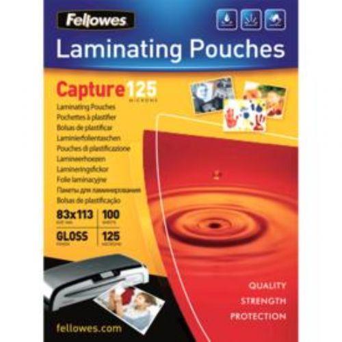 Polaseal Pasta para Plastificação Fellowes CRC 53071 83x113mm 125 micras 100 unidades